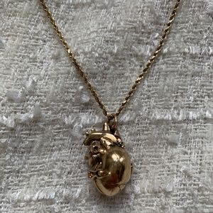 Jewelry - UNIQUE 14k gold real-life heart with 10k necklace